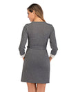 Women's Lace Patchwork Maternity Nursing Dresses-Deep Grey 2