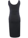 Fashion Solid Vest Sleeveless Bodycon Pregnant Dresses-Black 2
