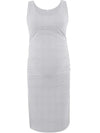Fashion Solid Vest Sleeveless Bodycon Pregnant Dresses-Grey 1