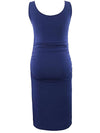 Fashion Solid Vest Sleeveless Bodycon Pregnant Dresses-Sapphire Blue 2