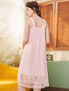 Cute Round Neckline Sleeveless Wholesale Cotton Pajamas for Girls-Pink 2