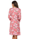 Wholesale V Neck Long Sleevepregnant Printing Belt Sleepwear -Pink 2