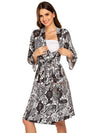 Wholesale V Neck Long Sleevepregnant Printing Belt Sleepwear -White 3