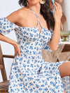 Cute and Adorable Summer Dress for Women with Split Design - White 5