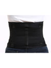 Colorful High Stretch Waist Trimmer Sweat Slim Belt For Sports-Black 1
