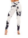 Fashion High Waist Tie-Dye Yoga Leggings For Women-Black & White 2