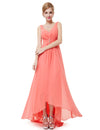 Double V-Neck Long Bridesmaid Evening Dresses Eb23899-Coral 1
