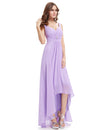 Double V-Neck Long Bridesmaid Evening Dresses Eb23899-Lavender 3