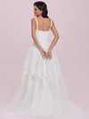Romantic Wholesale Lace & Tulle Sleeveless Wedding Dress-Cream 3