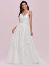 Romantic Wholesale Lace & Tulle Sleeveless Wedding Dress-Cream 4