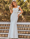 Wholesale Cap Sleeve Sweetheart Mermaid Style Wedding Dress-Cream 7