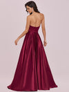 Sweetheart Neck Wholesale Prom Dress With Asymmetrical Hem-Burgundy 2