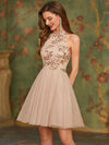 Stunning Wholesale Sequin Bodice Short Tulle Prom Dress