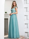 Women'S A-Line Off Shoulder Evening Party Bridesmaid Dress-Dusty Blue 3