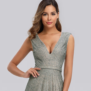 Ever-Pretty Women's A-Line V-Neck Glitter Dress Evening Party Maxi Dress EP00826