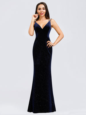 Ever-Pretty Women's Spaghetti Straps Velvet Dress Evening Dresses EP00850