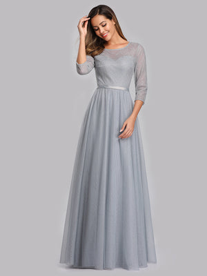 Ever-Pretty Women's A-Line 3/4 Sleeve Floral Lace Floor Length Wedding  Dresses EP00859 (4171665309757)