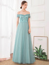 A-Line Off The Shoulder Sequin Evening Maxi Dresses For Women Ep00860-Dusty Blue 3