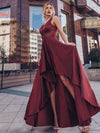 Women'S Deep V-Neck Sleeveless Maxi Dresses Ep00877-Burgundy 4
