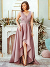 Women'S Deep V-Neck Sleeveless Maxi Dresses Ep00877-Purple Orchid 4