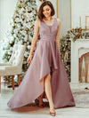 Women'S Deep V-Neck Sleeveless Maxi Dresses Ep00877-Purple Orchid 1