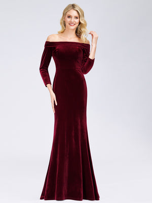 Ever-Pretty Classic Off Shoulder Floor Length Evening Dress EP00880