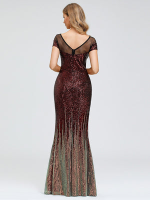 Ever-Pretty Sexy Off Shoulder Floor Length Sequin Fishtail Party Dress EP00884