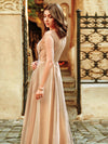 Women'S A-Line See-Through Cap Sleeve Evening Dresses Ep00902-Beige 7