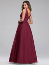 Ever-Pretty Women'S A-Line V-Neck Floor-Length Bridesmaid Dresses-Burgundy 2