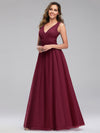 Ever-Pretty Women'S A-Line V-Neck Floor-Length Bridesmaid Dresses-Burgundy 3