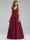 Ever-Pretty Women'S A-Line V-Neck Floor-Length Bridesmaid Dresses-Burgundy 4