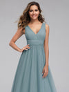 Ever-Pretty Women'S A-Line V-Neck Floor-Length Bridesmaid Dresses-Dusty Blue 5