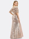 Women'S Off Shoulder Sequin Beads Bodycon Evening Dress Ep00991-Rose Gold 3