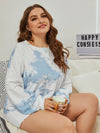 Women'S Casual Tie-Dye Pajamas Loungewear Set-Sky Blue 13
