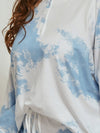 Women'S Casual Tie-Dye Pajamas Loungewear Set-Sky Blue 15