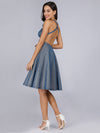 Backless Shiny Cocktail Dresses For Women Ep03057-Sapphire Blue 2