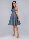 Backless Shiny Cocktail Dresses For Women Ep03057-Sapphire Blue 3