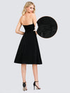 Women'S A-Line Strapless Empire Waist Cocktail Dresses Ep03103-Black 10