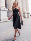 Women'S A-Line Strapless Empire Waist Cocktail Dresses Ep03103-Black 8