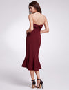 Fashion Strapless Bodycon Cocktail Dresses Ep05969-Burgundy 2