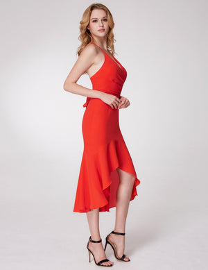 Ever-Pretty Ever-Pretty Sexy Adjustable Straps V Neck Fishtail Cocktail Dresses EP05978