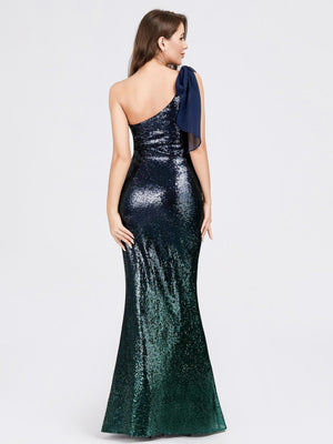 Ever-Pretty Women Fashion Sequins Floor Length Single Shoulder Evening Dresses EP07336