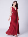 red | ever-pretty scalloped lace deep v-neckline long chiffon red prom dress ep07351-red 3