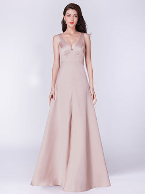 Ever-Pretty Long V Neck Sleeveless Formal Evening Dress EP07373