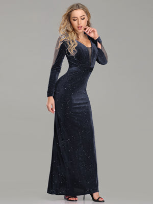 Ever-Pretty Women Elegant deep V Neck Long Sleeves Evening Cocktail Dress EP07394