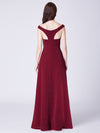 Cold-Shoulder Long Formal Evening Dress Ep07415-Burgundy 3