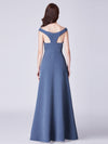 Cold-Shoulder Long Formal Evening Dress Ep07415-Dusty Navy 2