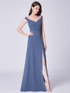 Cold-Shoulder Long Formal Evening Dress Ep07415-Dusty Navy 3