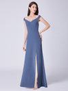 Cold-Shoulder Long Formal Evening Dress Ep07415-Dusty Navy 1