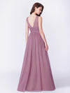 A-Line Deep V-Neck Long Evening Prom Dress Ep07455-Orchid 3